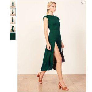 Sale🌈Reformation Gavin Midi Dress - Emerald